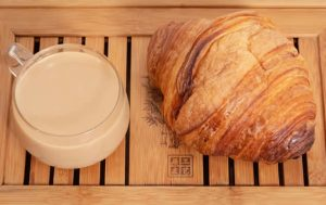 Chi Tea and Croissant