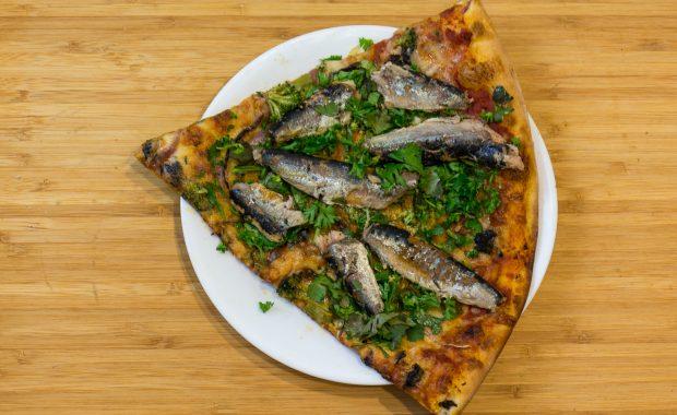 Sardines pizza