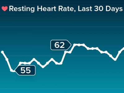 heart rate at rest chart for July 2019