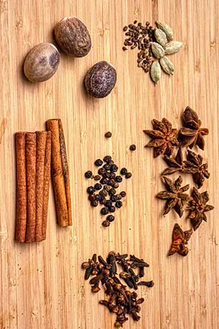 Masala chai ingredients